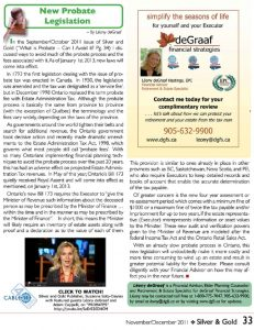 What is Probate Article Silver & Gold magazine